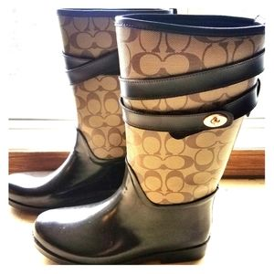 Authentic Coach Rain Boots size 8